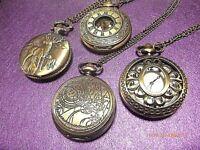 1 Steampunk Vintage Steam Punk Locket Quartz Watch Pendant Bronze 76-80 cm Chain
