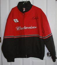 Dale Earnhardt Jr Budweiser Jacket Large Winners Circle Red Black Nascar