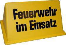 """Dachaufsetzer """"Feuerwehr im Einsatz"""" gelb/schwarz"""