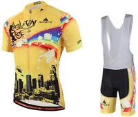 MILOTO Cycling Jersey Short Sleeve Cycling Clothing+Bib Shorts Cycling Set
