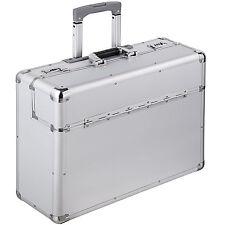 XL maletín de piloto cabin maleta trolley con cerradura y ruedas plata NUEVO