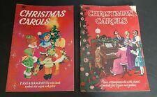 2 Vtg Whitman Christmas Carol Song Books Piano Arrangement Chord Organ Guitar