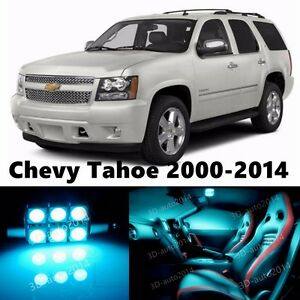 16pcs LED ICE Blue Light Interior Package Kit for Chevy Tahoe 2000-2015