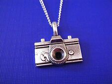 """FREE GIFT ** ANTIQUED SILVER """"Camera"""" PENDANT WITH 18""""  NECKLACE"""