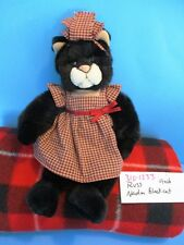 Russ Nadia Black Cat in Red/Tan Checkered Dress(310-1233)