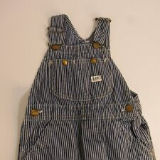 Vintage Lee Pinstriped Overalls Youth Sanforized Usa Union Made Farm Boy Kids