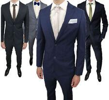 Abito uomo slim fit da cerimonia vestito set 2 pezzi pantalone giacca uomo