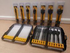 DEWALT DT7943 Extreme 8pce Flat Wood Drill Bit Set in Tough Case