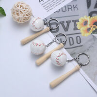 6pcs Baseball Keychain Sports Softball Key Ring Charm Pendant Decorative Key Cha