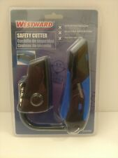 Westward Safety Knife (5-3/4 in) Black/Blue 22Xp80 w/ Holster New Sealed (B)