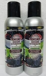 Smoke Odor Exterminator Mulberry & Spice 7 oz Large Spray Set of Two Cans
