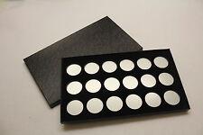 BOX FOR COINS IN AIRTITE CAPSULE HOLDER for SILVER DOLLARS, 18 H BLACK FELT
