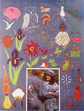 Embroidery Transfer Pattern Iron On Crafts Vintage Animals Flowers Southwest NOS