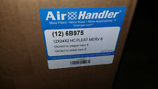 Air Handler 6B975 Pleated Air Filter, 12x24x2, Merv 8, High Capacity (lot of 11)