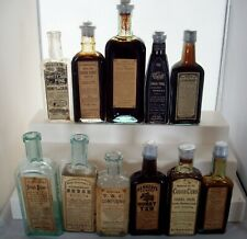 Lot of Eleven (11) Different Cough Cure & Remedy Bottles, All w/ Labels