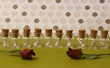 10 x Mini Glass Message in a Bottles,Wedding Favour, Thank You Gift,Keepsake.