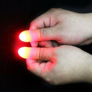 2pcs Magic Light Up Finger Fingers LED Tricks Thumb Props Lights Novelty Toys