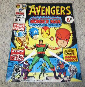 Avengers UK 6 RARE in US Early Jack Kirby B&W art  Bronze Silver HG
