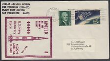 # Space Raumfahrt Apollo 8 Bergung Navy Cachet HBS USS Yorktown 27.12.68