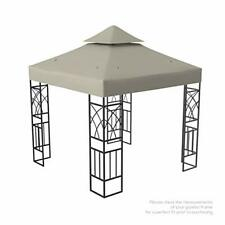 Kenley Gazebo Canopy Replacement Top 10x10 - Double Tier Patio Canopy Cover