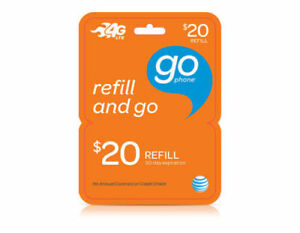 AT&T - AT&T Prepaid $20 Refill Top-Up Prepaid Card , AIR TIME  PIN / RECHARGE