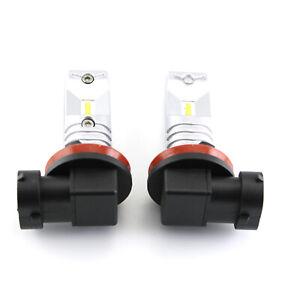 2pcs H7 3000K Golden Yellow 3030-SMD LED Fog Light Kit Bulbs