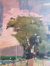 JOSE TRUJILLO Impressionist Abstract 22x30 Acrylic Painting Landscape WALL ART