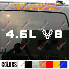 4.6L V8 Car Vinyl Decal Sticker Fit for Cadillac Ford Mustang Land Cruiser etc