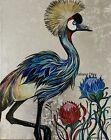 "'""Amazing Crane '' Acrylic Painting By Tatiana Oles"