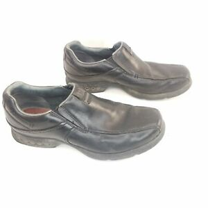 Merrell Atlas Loafers Shoes Black Leather Slip On Comfort Wear Mens Size 10.5