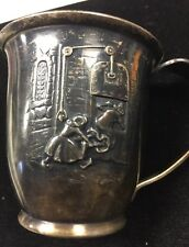 RARE Vintage Gero Birth cup Silver plated Hansel And Gretel