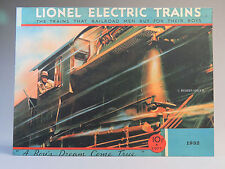 LIONEL PREWAR 1932 CATALOG COVER IRON WALL HANGING metal sign train 9-42065 NEW