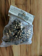 Antique Drapery Rod Co. Grape Cluster Swag Bracket Tieback Antique Gold NIP