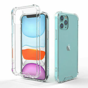 100% NEW Clear Shockproof Cover Soft Gel Silicone Phone Case For iPhone 13 Pro