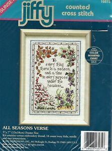 ALL SEASONS VERSE - Counted Cross Stitch Kit - BIBLE VERSE Sampler
