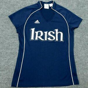 ADIDAS ClimaCool T-Shirt Notre Dame IRISH *Rare Sample* Blue S/S Women's M