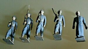 Soldier Old Lead CBG Mignot Bundle 4 Soldiers + Un Officer 14/18