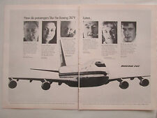 5/1970 PUB BOEING 747 AIRLINER AIRLINES PASSENGERS KLM JAL TWA BOAC ORIGINAL AD