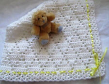 Crochet PATTERN CR129 Lacy Diamonds Blanket/Shawl - Baby Crochet