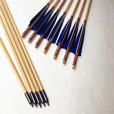 12PCS handmade wooden arrows 28-33inch  longbow arrow for recurve bow longbow