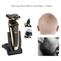 Gold 5 Head Rotary razor Electric Shaver Beard Hair Trimmer Bald Razor Wet/Dry