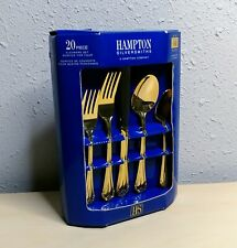 Hampton Silversmiths 24kt Gold Plated 20 Piece Flatware Service For 4