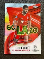 2020-21 Topps Chrome UEFA Champions League Golazo Serge Gnabry Bayern Munich