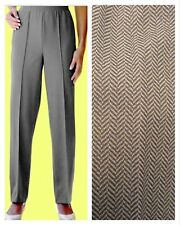 Slimma @ Simply Be Size 10 Grey Herringbone Comfort Fit Pull On TROUSERS Casual