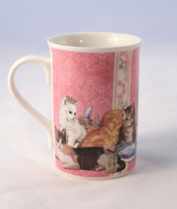 Summer River Collection Coffee Mug or Tea Cup with Princess Cats Pink