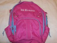 "POTTERY BARN KIDS  PINK FAIRFAX BACKPACK ""MCKENNA""   NEW"