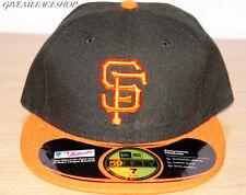 NEW ERA SAN FRANCISCO GIANTS FLAT PEAK CAP, 5950 FITTED HATS, 59FIFTY BRIM CAPS
