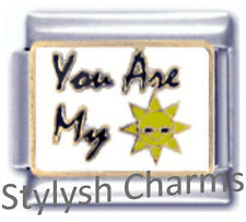 YOU ARE MY SUNSHINE Inspirational Enamel Italian Charm 9mm - 1x LV109 Sngle Link