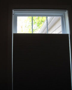 "Used Levolor Room Darkening Cellular Top Down/Bottom Up Shade 66"" x 64"" Whisper"