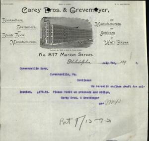 1893 Philadelphia Pennsylvania (PA) Carey Bros. & Grevemeyer